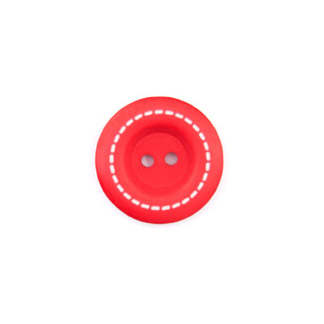 Stitched Buttons - Red