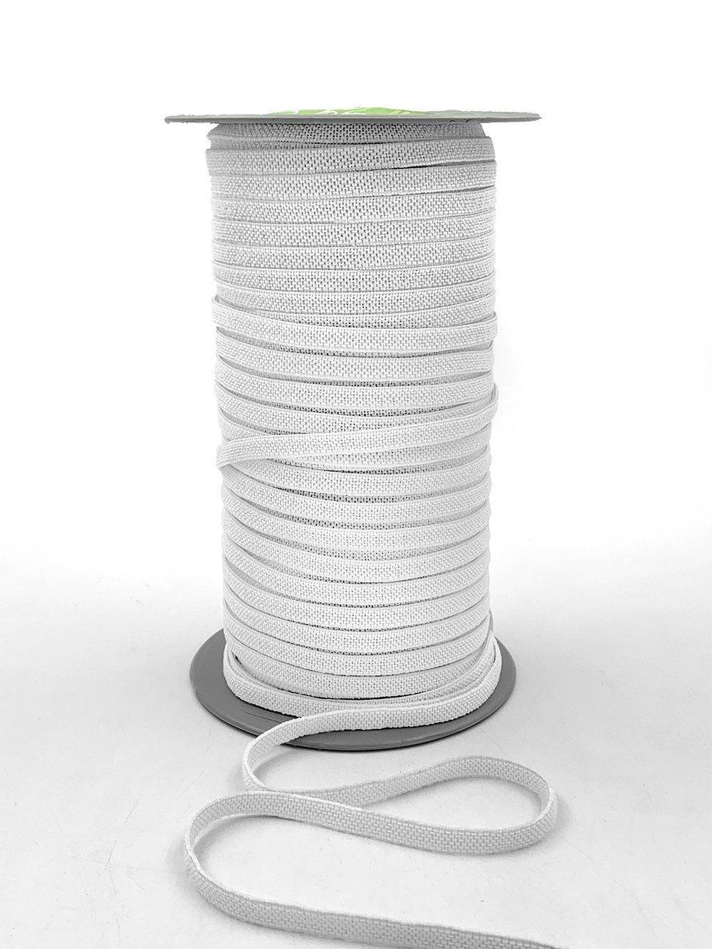 Elastic - 1/4 (6mm) Flat White