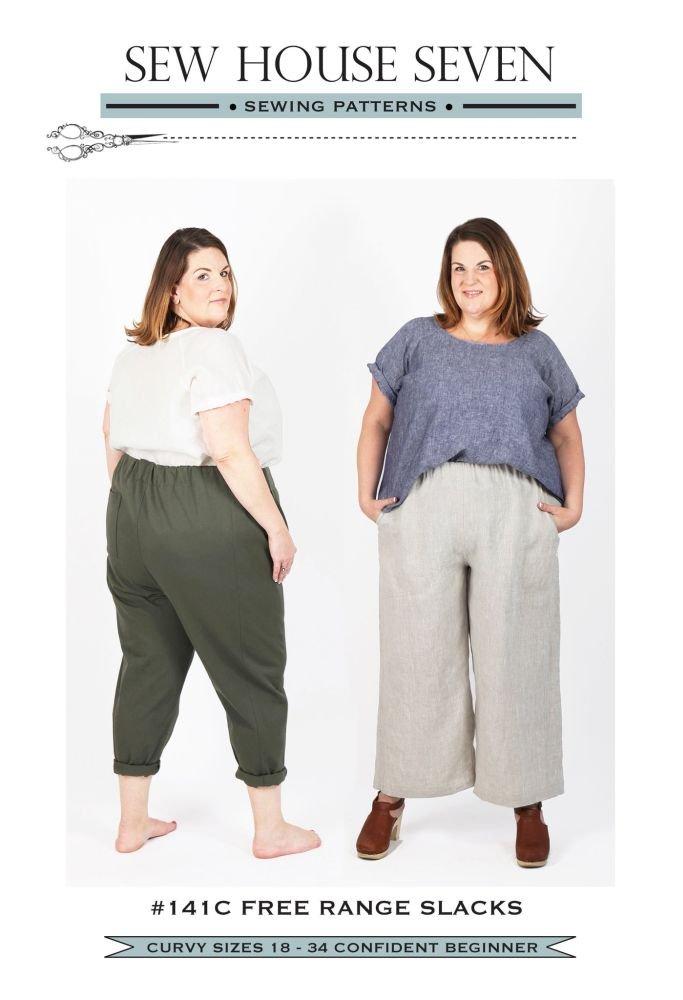 Sew House Seven - Free Range Slacks Curvy (sizes 18-34)