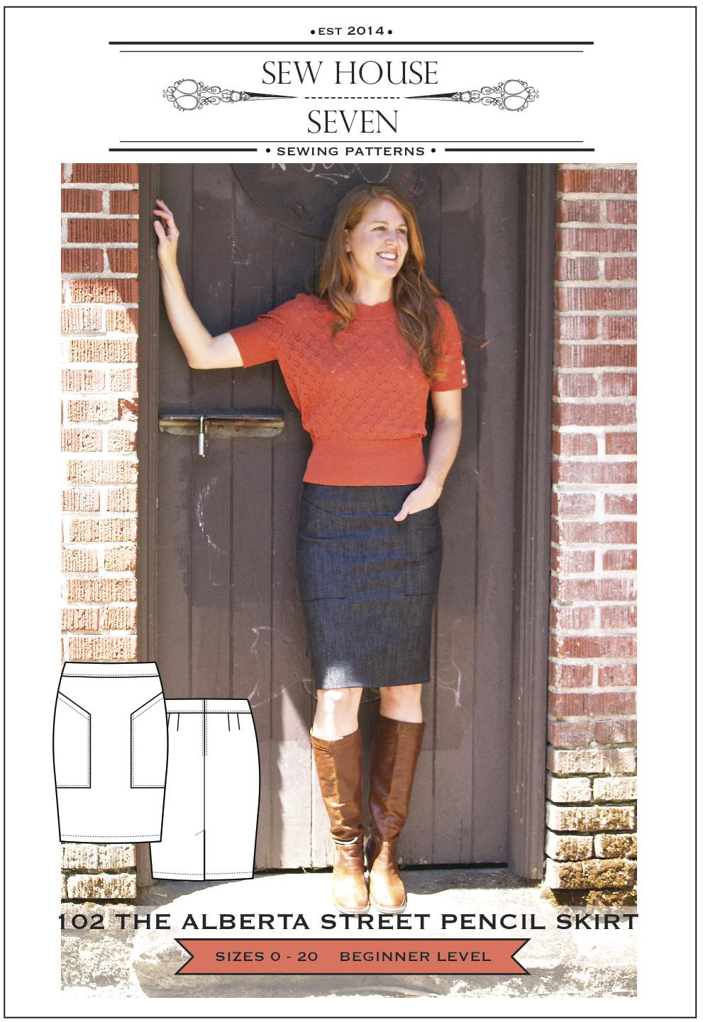 Sew House Seven - Alberta Street Pencil Skirt