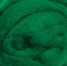 Wool Roving - Green