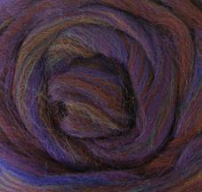 Wool Roving - Variegated Blue Wine