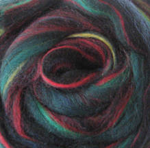 Wool Roving - Variegated Green