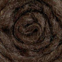 Wool Roving - Dark Brown Grey