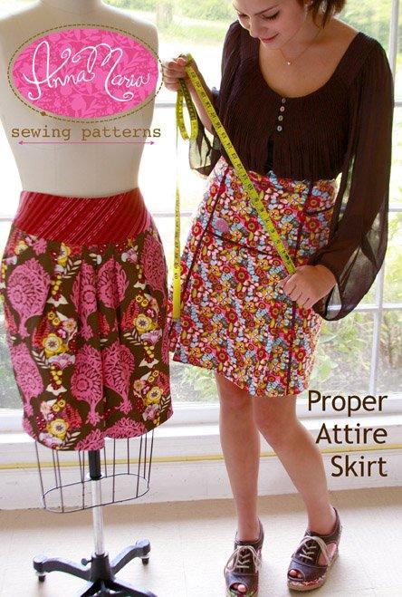 Anna Maria Sewing Patterns - Proper Attire Skirt