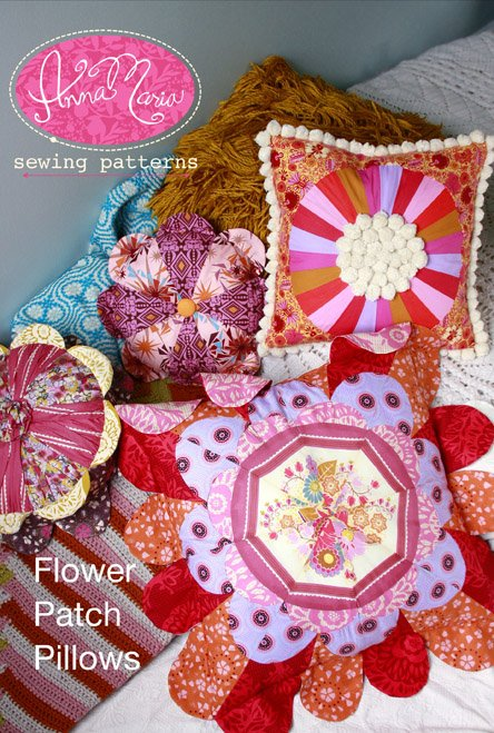 Anna Maria Sewing Patterns - Flower Patch Pillows