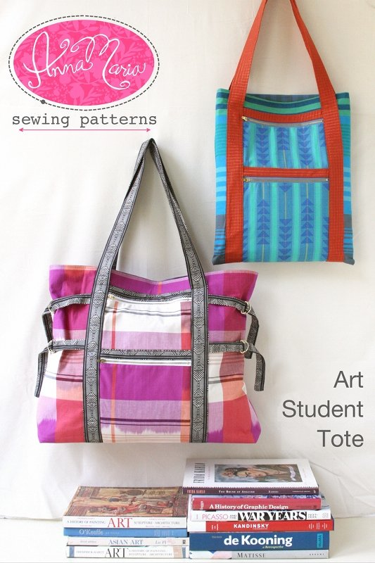 Anna Maria Sewing Patterns - Art Student Tote