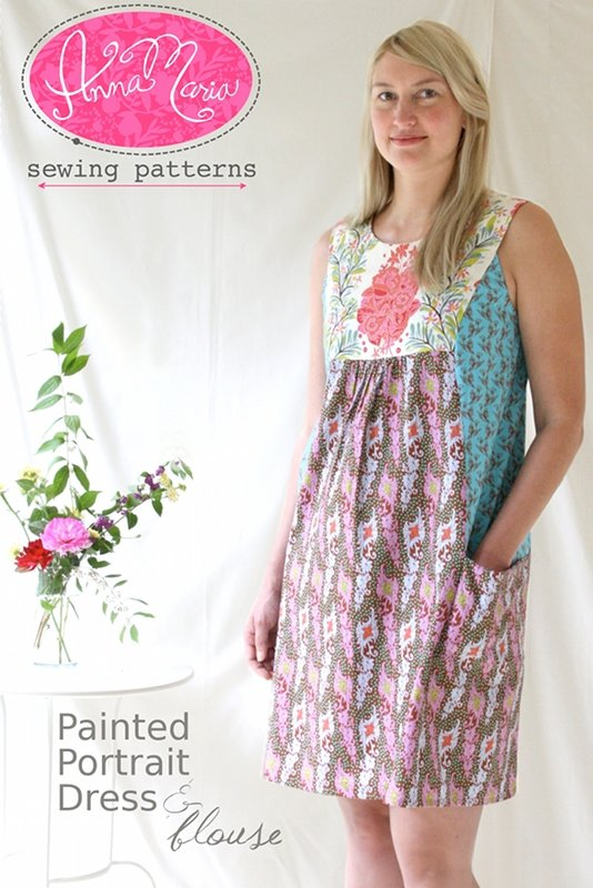 Anna Maria Sewing Patterns - Painted Portrait Dress & Blouse