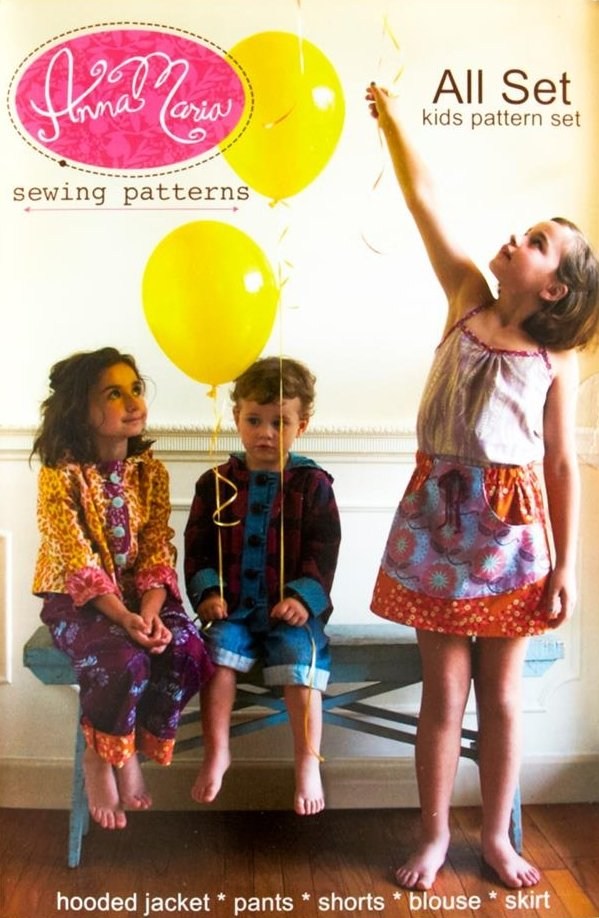Anna Maria Sewing Patterns - All Set Kids pattern set