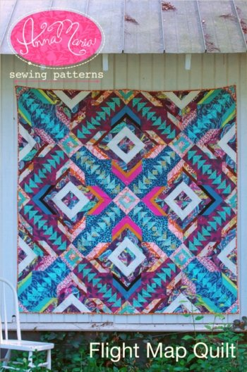 Anna Maria Sewing Patterns - Flight Map Quilt