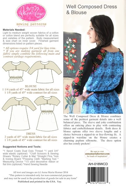 Anna Maria Sewing Patterns - Well Composed Dress & Blouse