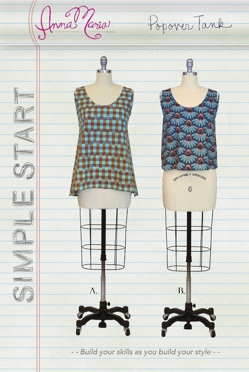 Anna Maria Simple Start Sewing Patterns - Popover Tank
