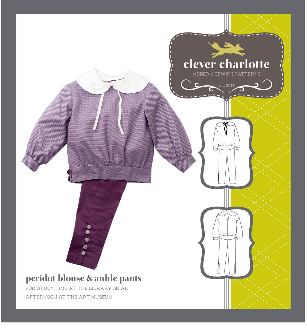 Clever Charlotte - Peridot Blouse & Ankle Pants