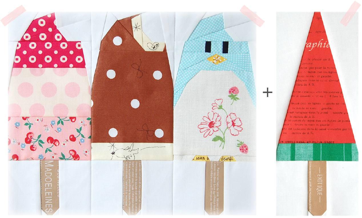Super Penguin Quilt-Along - July Block Print - Popsicles