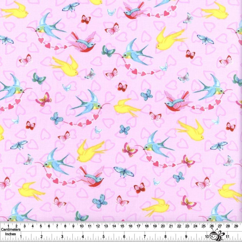 Heart & Soul - Birds & Butterflies - Pink