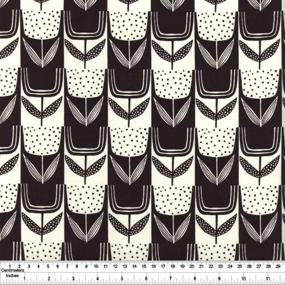 Perennial - Patchwork Tulips - Charcoal