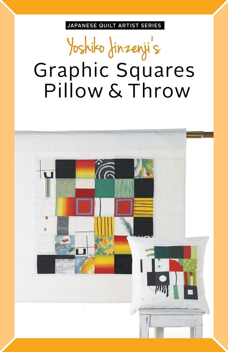 Yoshiko Jinzenji - Graphic Squares Pillow & Throw