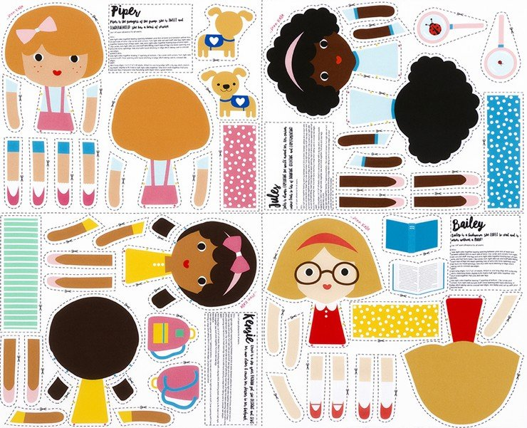 Girl Friends - Doll Panel - Piper & Friends