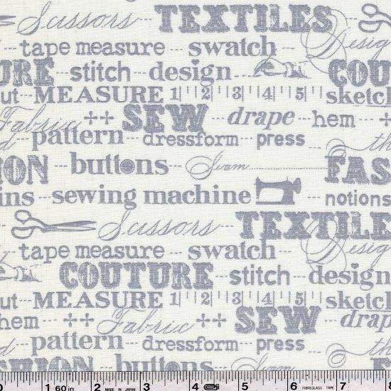Sewing Studio - Text - Grey