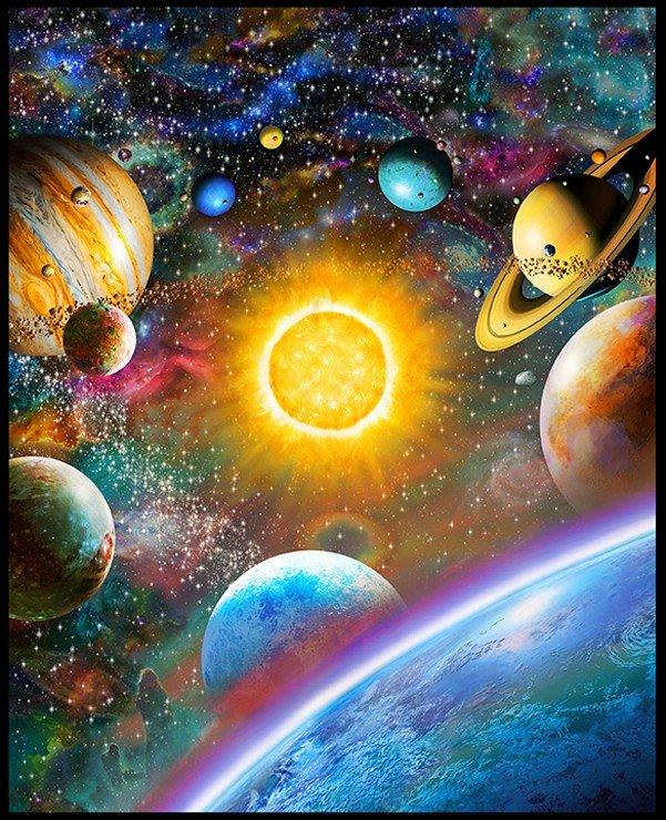 Stargazers 108 Wide Back Panel - Celestial