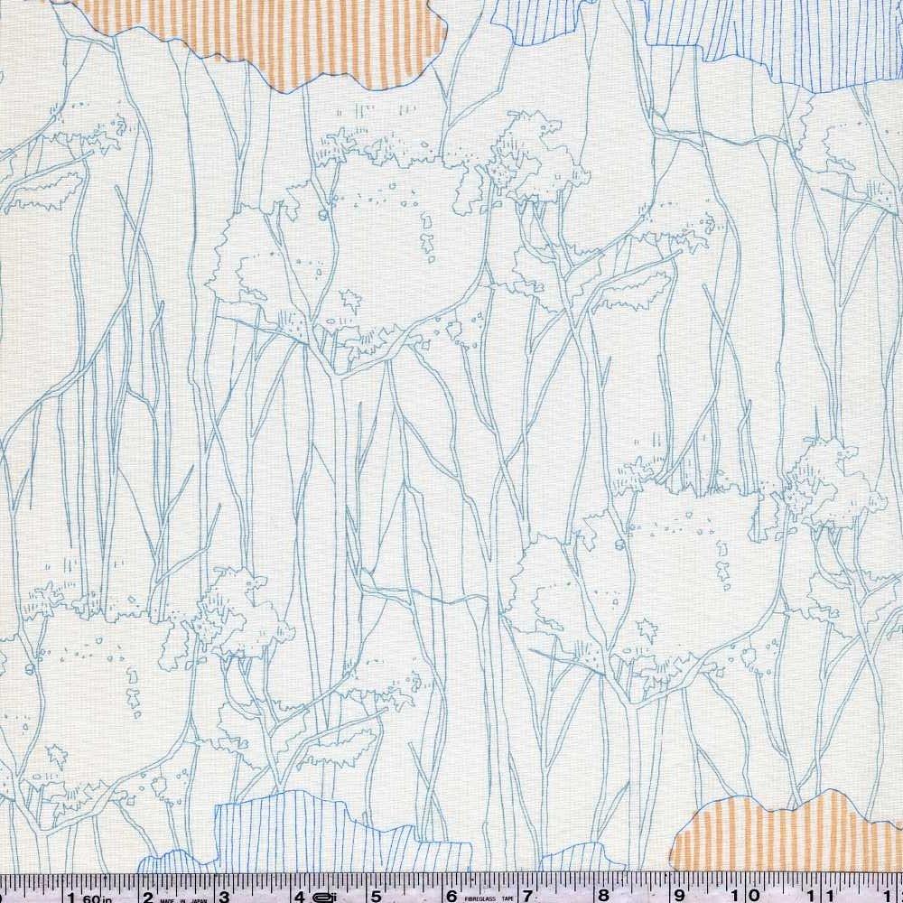Friedlander - Tree Stripe Border - Dusty Blue