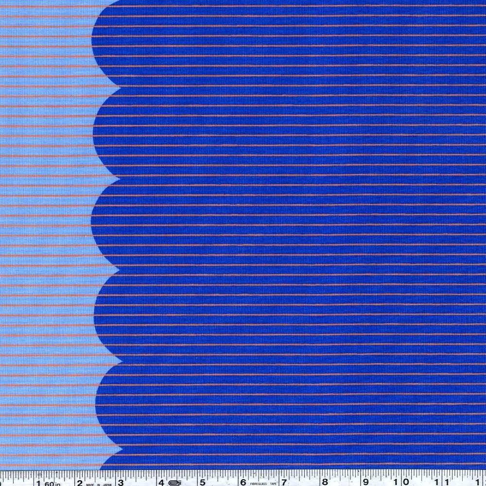 Harriot - Scallop Single Border - Blueprint