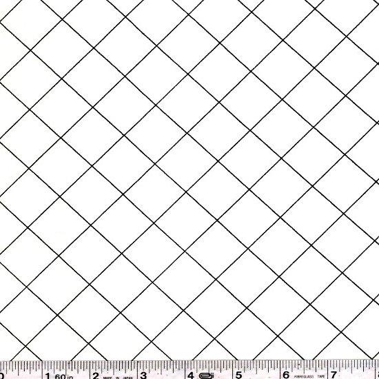 Doe Wide - Grid - White