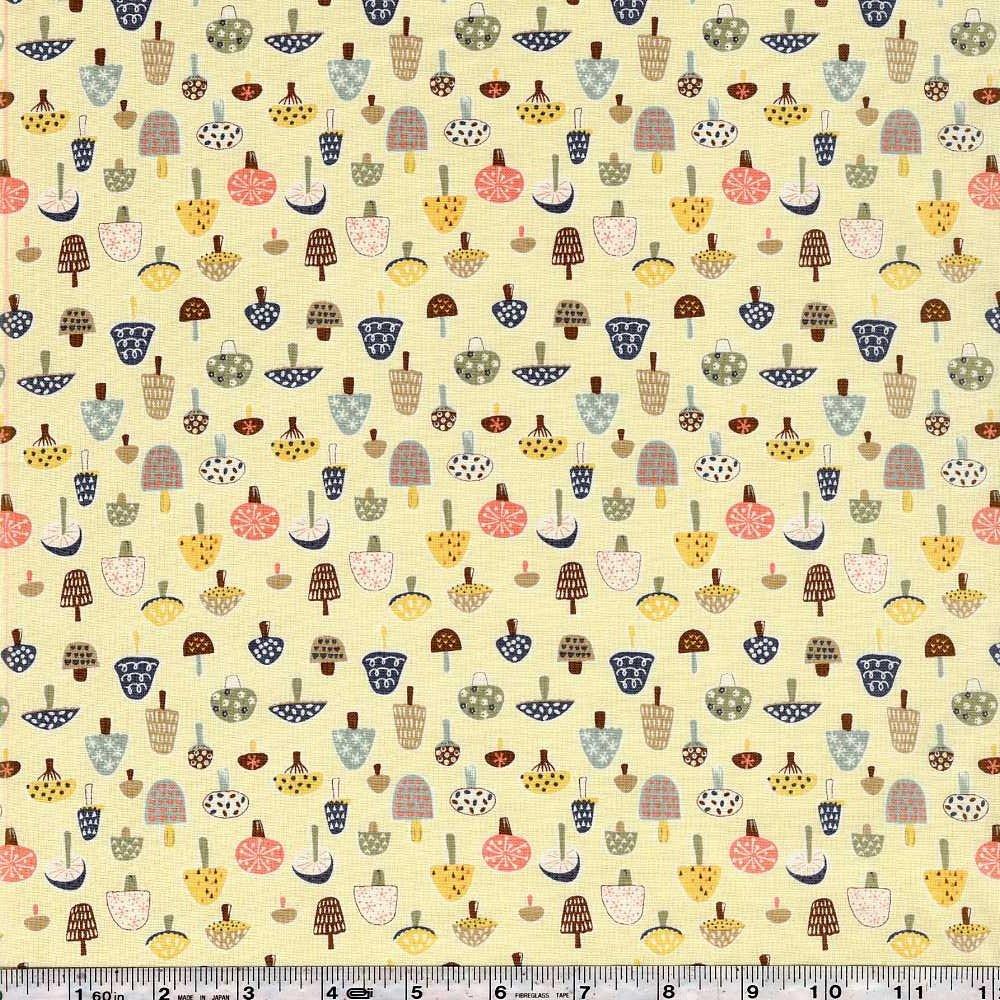 Tiptoe Through the Toadstools - Pale Yellow