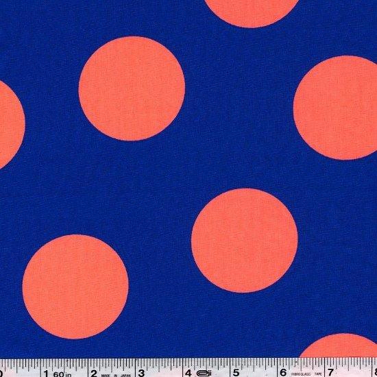 Giant Neon Dot - Blue & Orange