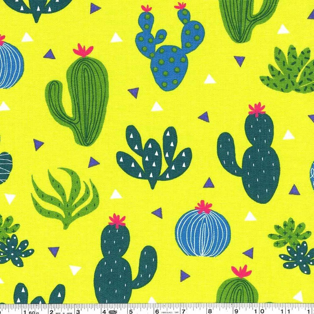 Cactus Garden Canvas - Chartreuse