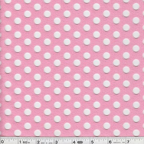 Punching Felt - Big Dot - Pink