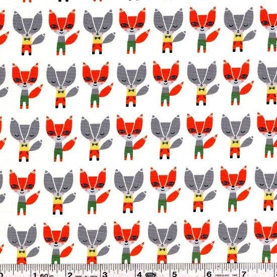 Suzy's Minis - Stylish Fox - White