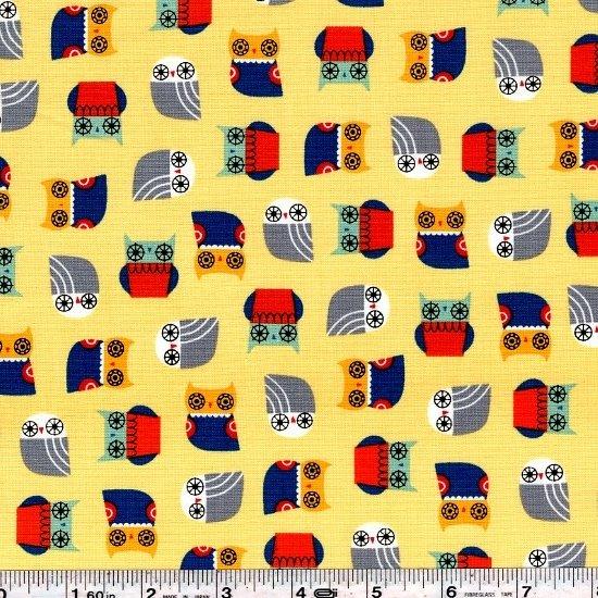 Suzy's Minis - Owls - Yellow