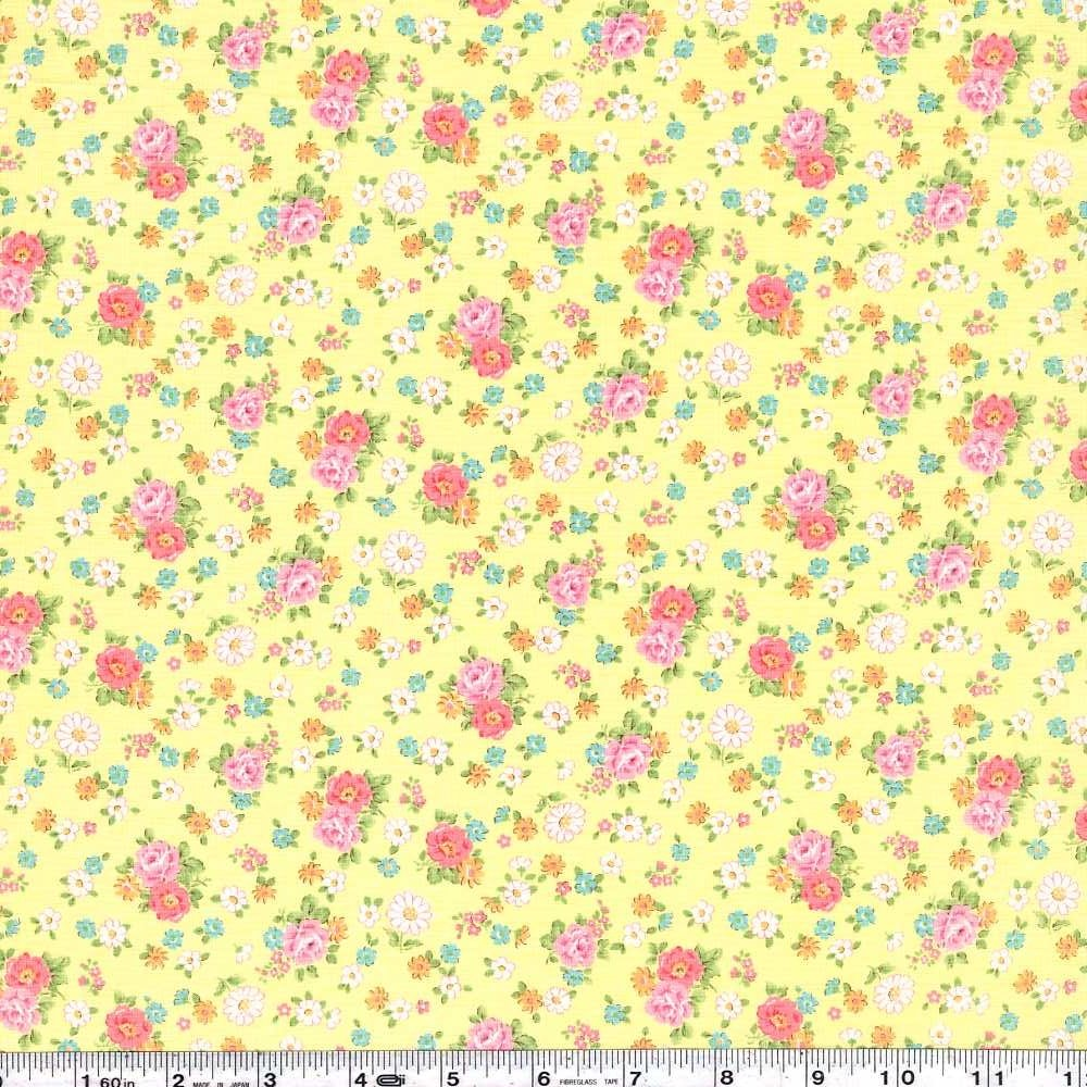 Atsuko's 30s Collection - Vintage Floral - Yellow