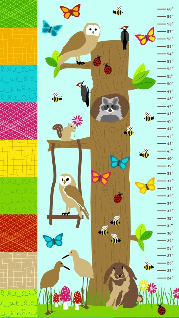Bright and Buzzy - Growth Chart Panel