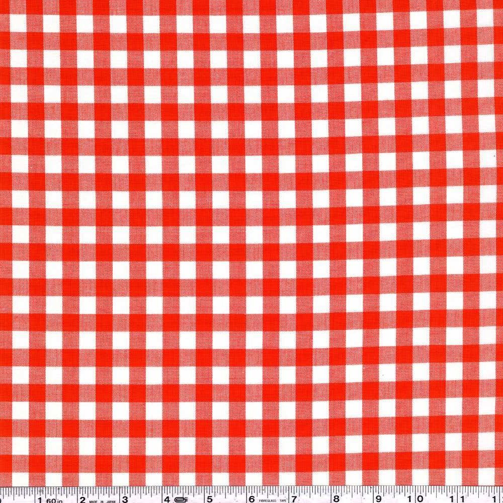 Kitchen Window Wovens - Small Gingham - Flame