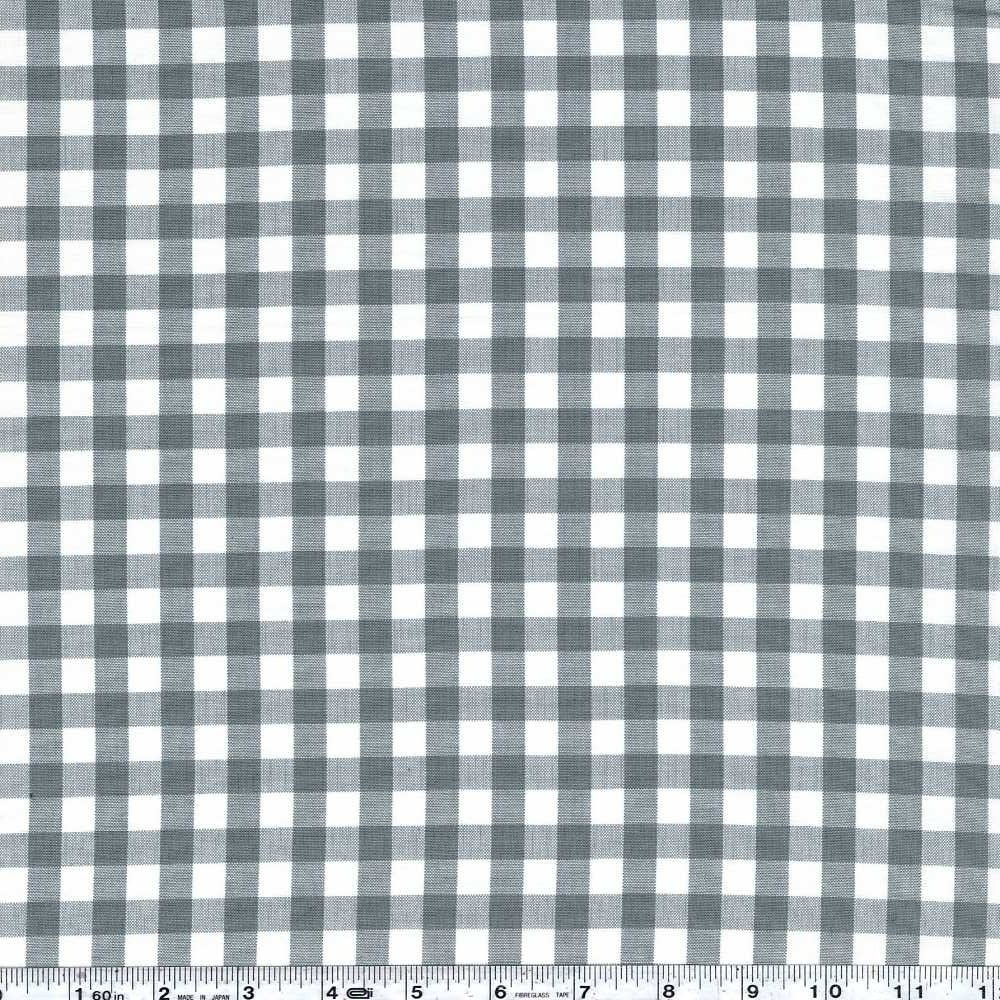 Kitchen Window Wovens - Small Gingham - Shale
