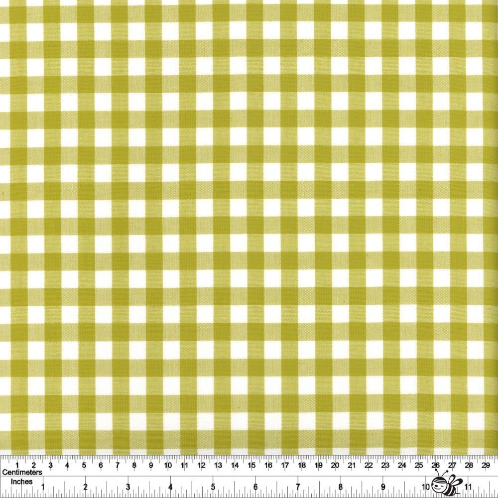 Kitchen Window Wovens - Small Gingham - Pickle