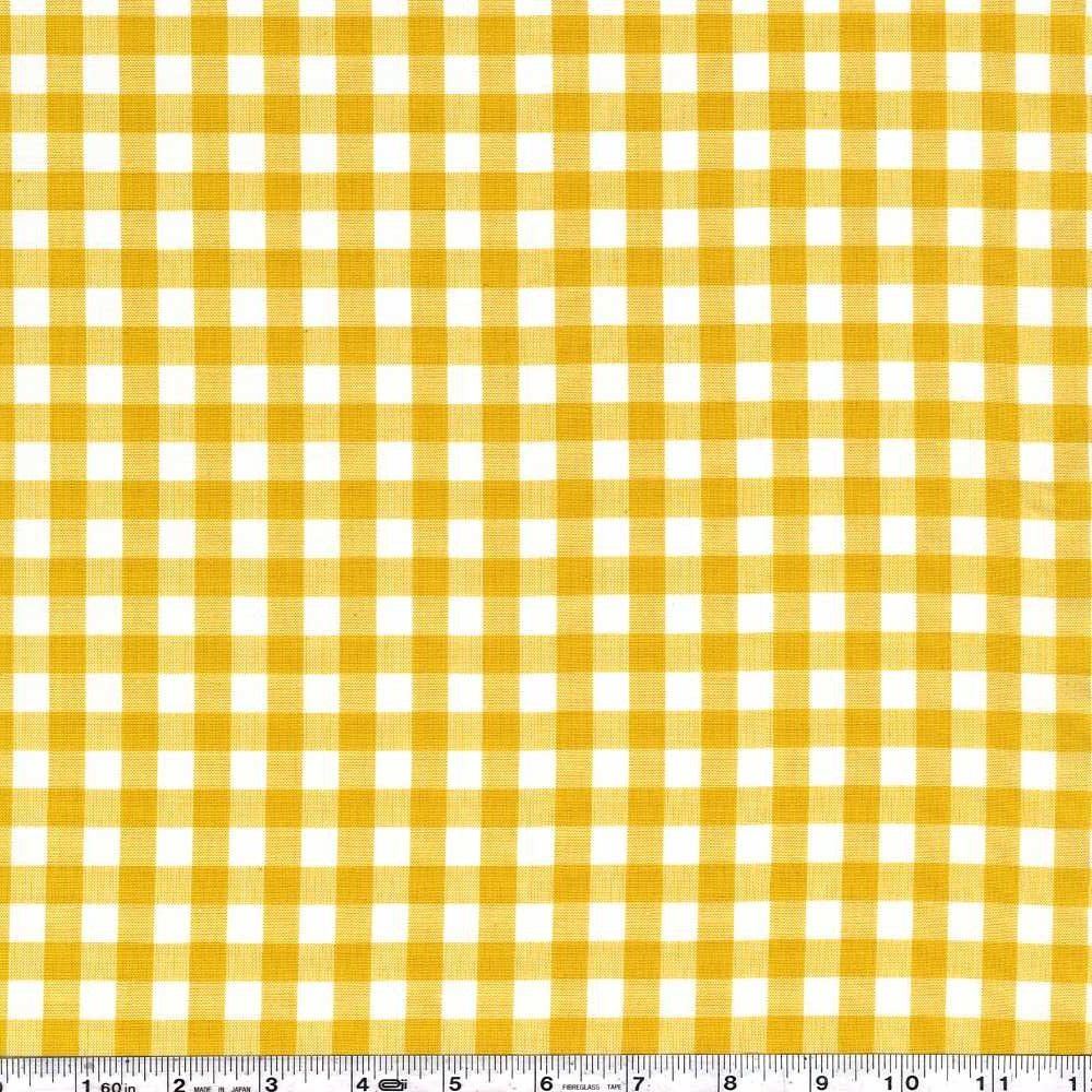 Kitchen Window Wovens - Small Gingham - Grellow