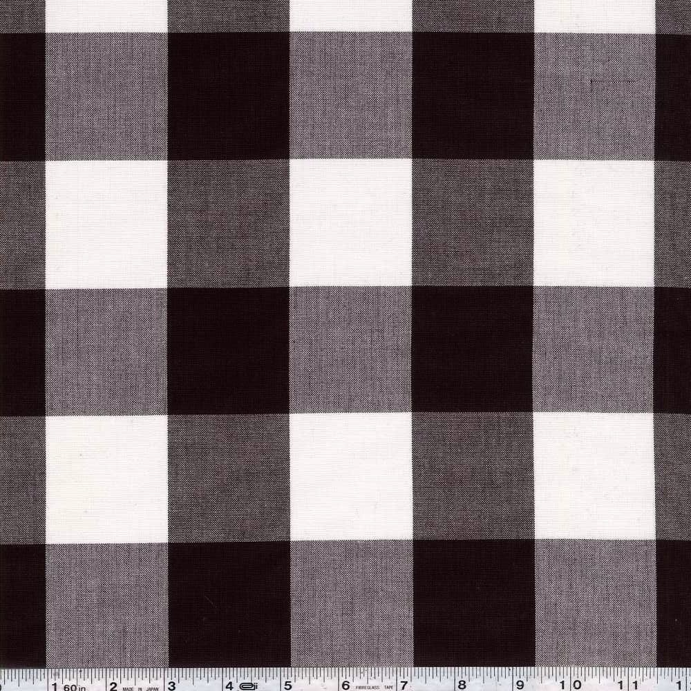 Kitchen Window Wovens - Large Gingham - Espresso