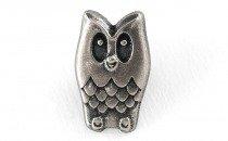 Pewterette Owl Button - 17mm