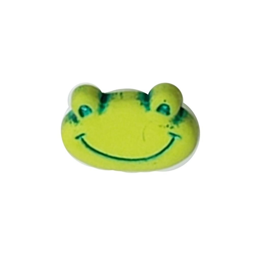Green Frog Button - 15mm