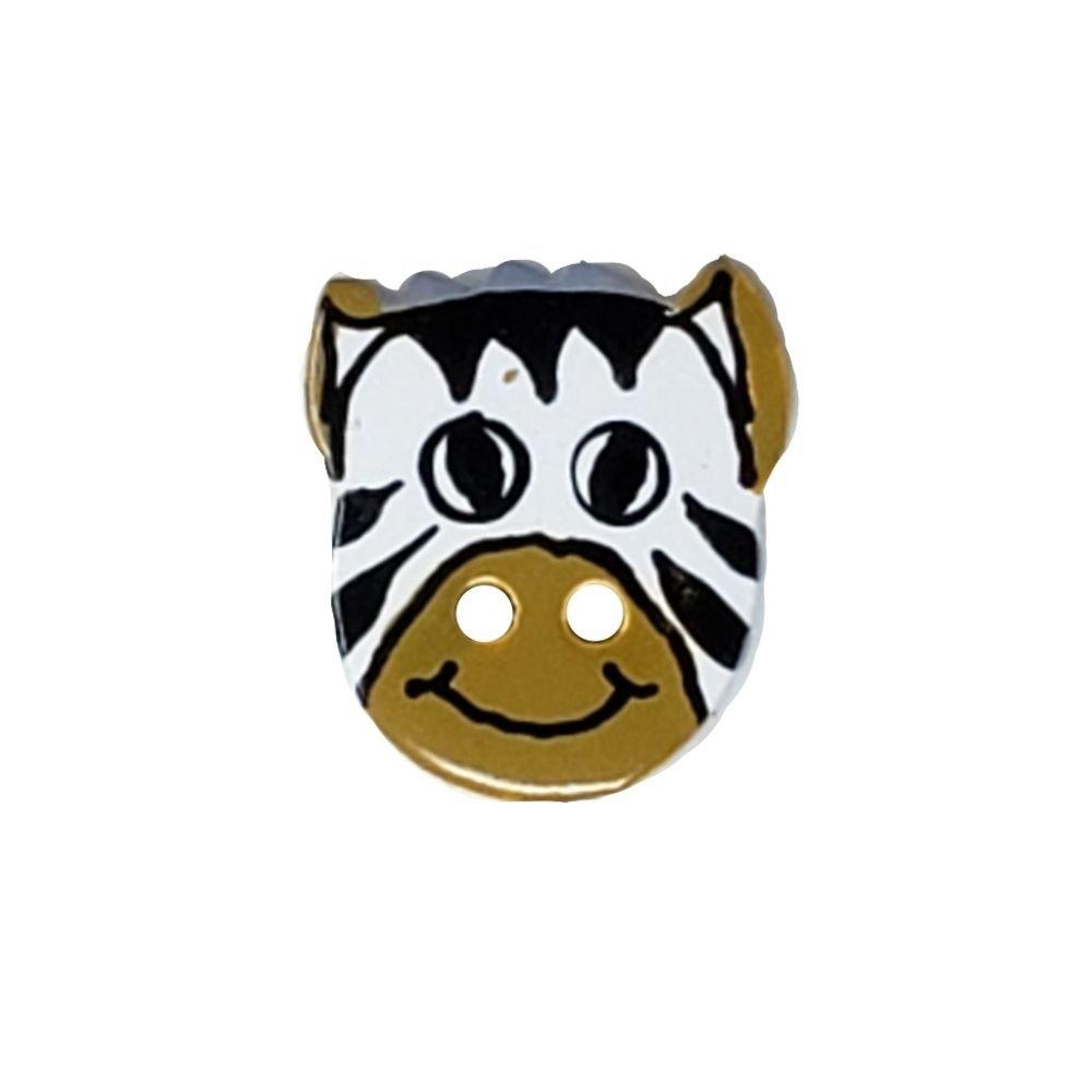 Zebra Face Button - 22mm
