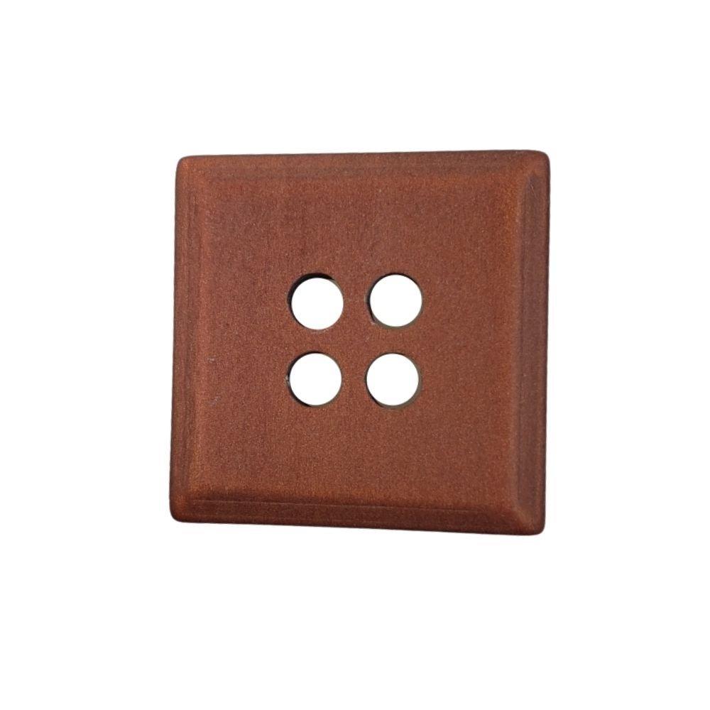 Granite Square Button - Rust - 25mm