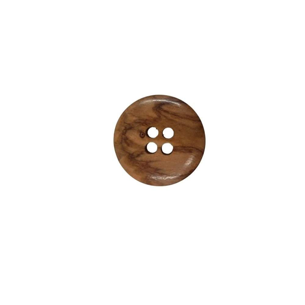 Smooth Wood Button - 20mm