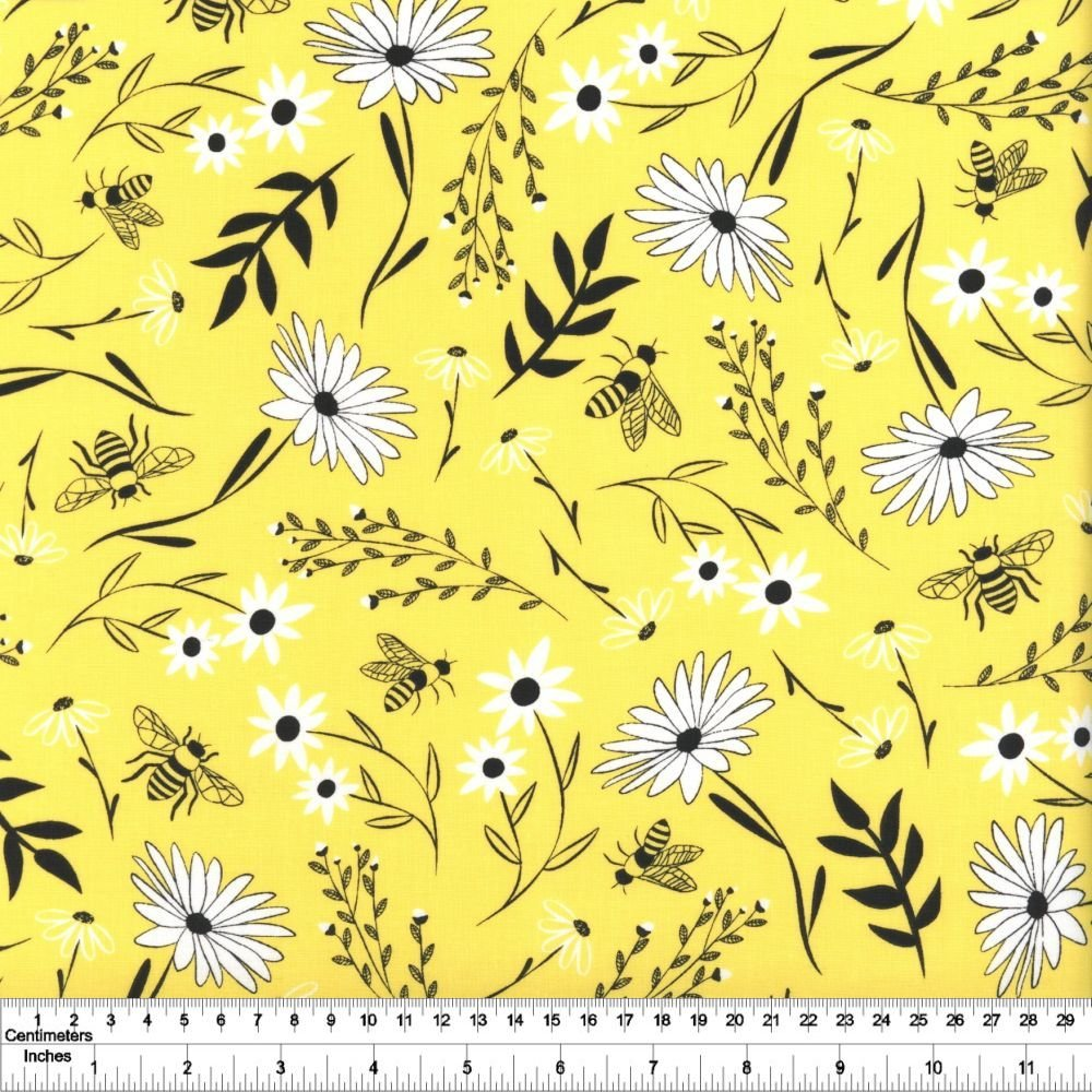 Save the Bees - Large Floral - Honey