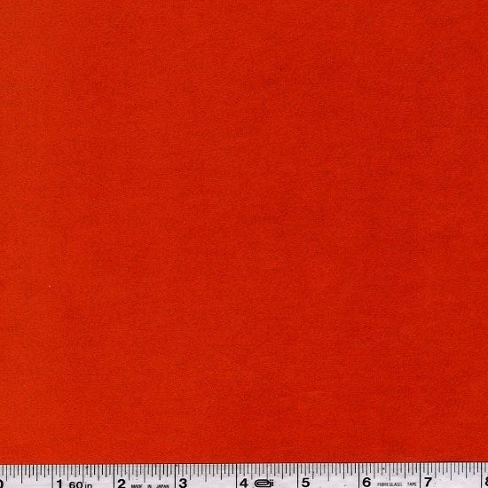 Synthetic Suede - Red-Orange