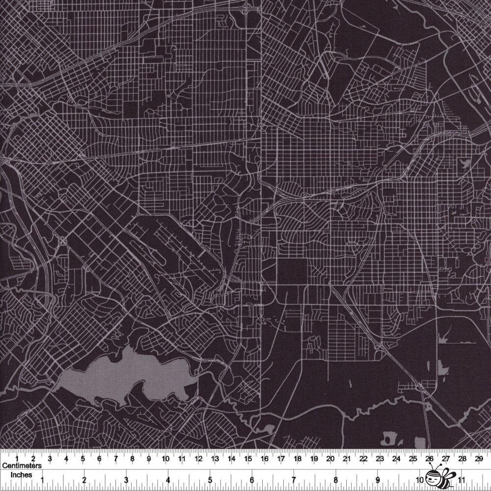 Destinations - Map - Charcoal