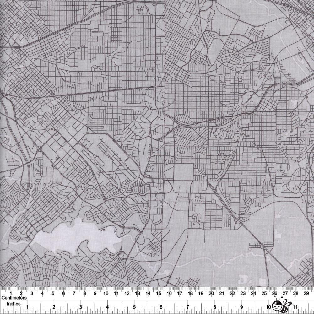 Destinations - Map - Grey