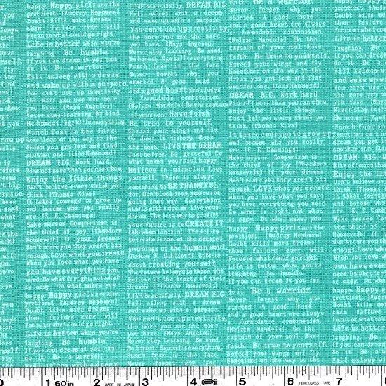 Cottage Garden - Newsprint - Teal